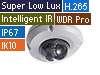 4MP H.265 Super Low Lux WDR Pro IR Mini Fixed Rugged IP Dome