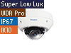 3MP H.264 Super Low Lux WDR IR Vandal Proof IP Dome