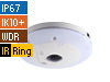 5MP H.264 WDR IR Fisheye Rugged IP Camera