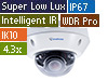2MP H.265 4.3X Zoom Super Low Lux WDR Pro IR Vandal Proof IP Dome