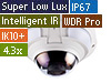 4MP H.265 4.3x Zoom Super Low Lux WDR Pro IR Vandal Proof IP Dome