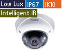5MP H.265 Low Lux WDR IR Vandal Proof IP Dome