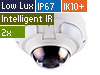 5MP H.265 2X Zoom Low Lux WDR IR Vandal Proof IP Dome